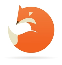 Fox icon and element vector image vector image