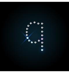 Gems letter shiny diamond font vector
