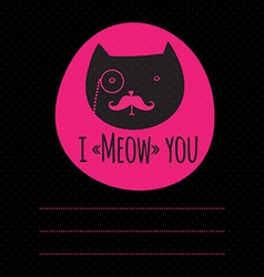 greeting card with cat vector image vector image
