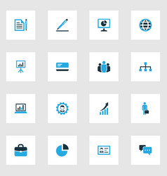 Job colorful icons set collection of manager vector