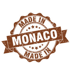 Made in monaco round seal vector