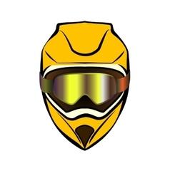 Motorcycle sport helmet vector