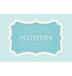 Old vintage frame with text Invitation vector image