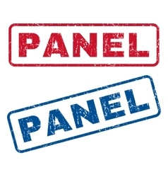 Panel rubber stamps vector