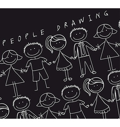 People drawn vector