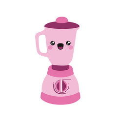 pink color silhouette of cartoon kitchen blender vector image