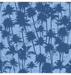 seamless Palm trees pattern vector image