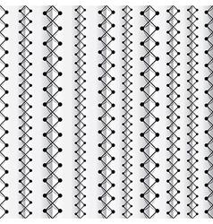 Seams seamless pattern vector image