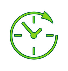Service and support for customers around the clock vector