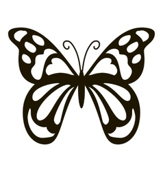 Spotted butterfly icon simple style vector