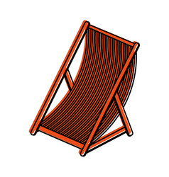 Sun chair icon image vector