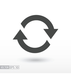 Symbol of movement rotation cyclic recurrence vector image vector image