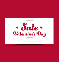 Template of a red banner with white rectangle vector