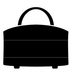 woman bag the black color icon vector image vector image