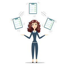 Woman with a clipboard with green tick vector
