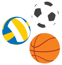 Football basketball and volleyball vector