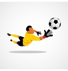 Little goalkeeper icon vector