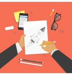 Drawing school concept vector