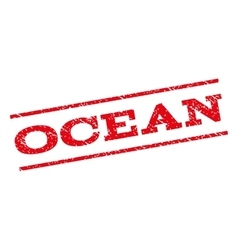 Ocean watermark stamp vector