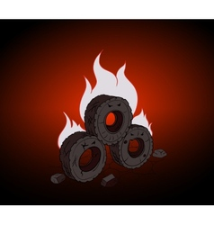 Blazing tires vector