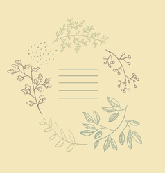Autumn flowers post card vector