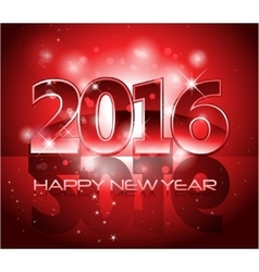 Red 2016 happy new year background with sparkle vector