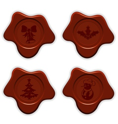 Collect christmas sealing wax vector