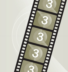 vintage film roll vector image