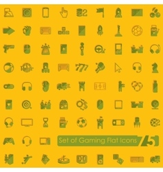 Set of gaming icons vector