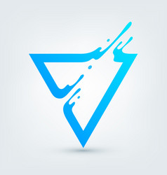 abstract blue triangle vector image vector image