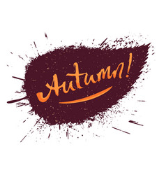 autumn hand lettering vector image vector image