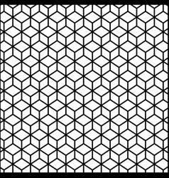 Black contour line with hexagon pattern vector