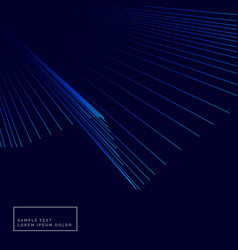 Blue background with lines rays vector