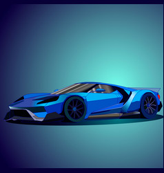 Blue car vector