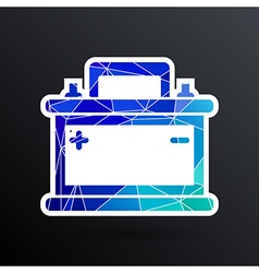 Car battery icon electric power sign vector