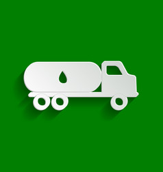 Car transports oil sign paper whitish vector