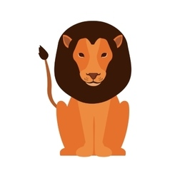 cartoon lion icon vector image vector image