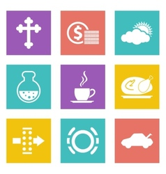 Color icons for web design set 31 vector