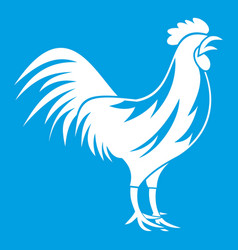 gallic rooster icon white vector image vector image
