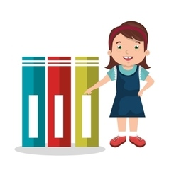 girl studying isolated icon design vector image
