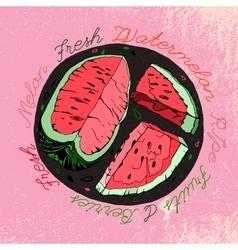 Hand drawn watermelon 03 a vector