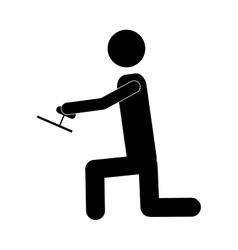 Handy man or engineer icon image vector