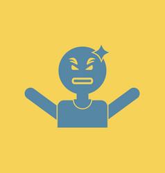 Man headache angry man head illness vector