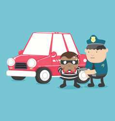 motor vehicle theft vector image vector image