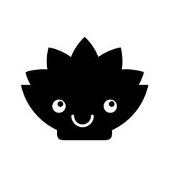 Natural flower spa kawaii character vector