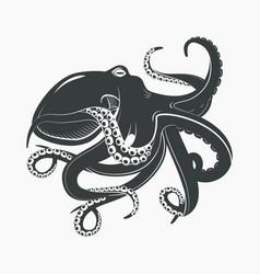 octopus mascot or sea ocean monster tattoo vector image