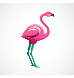 Pink flamingo icon and vector