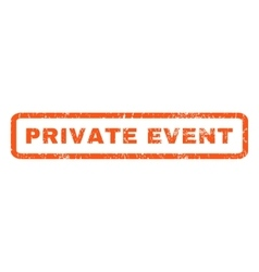 Private Event Rubber Stamp vector image vector image