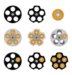 revolver cylinder with five holes vector image