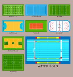 Sport game field ground line playground vector